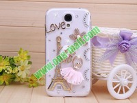 Luxurious 3D Eiffel Tower Pattern Bling Bling Diamond Crystal Hard Case for Samsung Galaxy s4/i9500