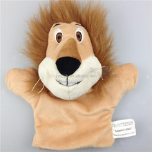 Factory price lion plush hand puppets