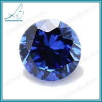 Wholesale round brilliant cut 1.25mm cubic zirconia blue stone