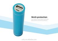 Various Capacity For Power Bank---Colorful universal 2200 mah 2800 mah portable power bank charger