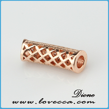 Latest Charm design mode of micropave setting crystal jewelry fashion jewelry curved tube