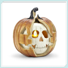 Skull pumpkin halloween figure with LED Light