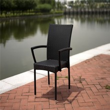 Joey Comfortable Outdoor Wicker Furniture Anti-aging Dining Chair Leisure Patio Rattan Chair