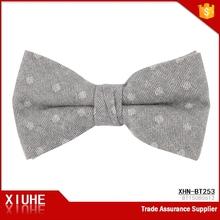 100% cotton hotsale green polka dots bow tie