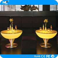 LED flash light table ! new plastic waterproof led bar table furniture use for restaurant/ bar / party or exhibition.