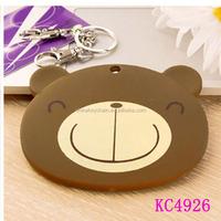 2014 Best Sale Custom Design Creative Lovely Gifts Soft PVC keychain