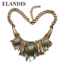 E-ELANDIS New Arrival Jewelry Fashion, Lovely Costume Jewelry,Leopard grain resin necklace
