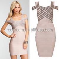 beige nude strap bandage dress women plus size dress