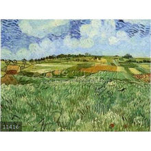 Handmade Vincent van Gogh impressionist oil painting reproduction, Plain near Auvers