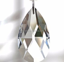 30 unids 38 mm forma lágrima claro ornamento de la navidad Crystal Prism