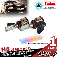 New selling Led H8 80W high power car H8 led headlight, Factory supply cheap led auto headlight H8