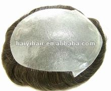 Thin skin knotted Men's Toupee