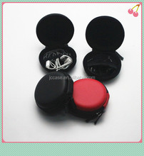 cute and round PU earphone case for accessories