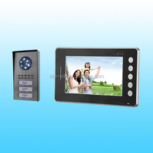 2015 Newest Design video door phone intercom with Two monitors without converter
