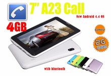 Tablets android 7 inch Alwinner A23 with 2G GSM phone calling low price android tablet pc china supplier