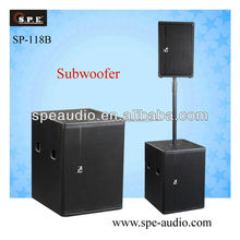 SPE audio 18inch subwoofer passive active sound speaker 600w sp-118B