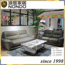 Italy leather simple design sectional sofa set home furniture AA062