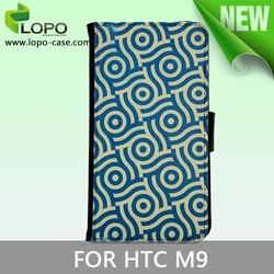 Printable sublimation leather flip mobile phone case for HTC M9