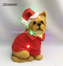 Súper ventas adornos navideños de perro con luz