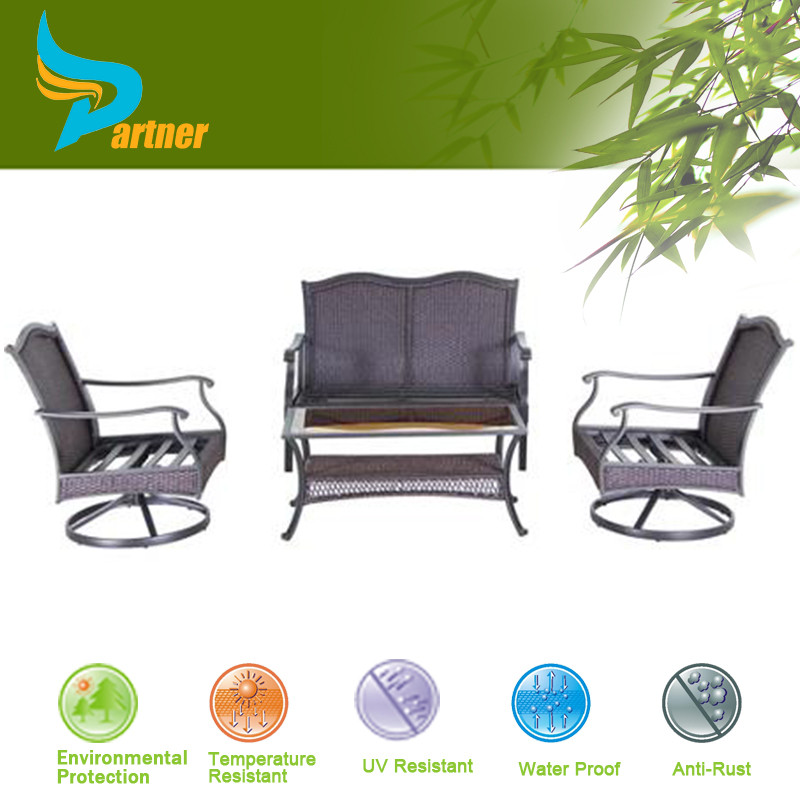 2015 european style wicker outdoor sofa chairs 5pc modern for Outdoor furniture europe