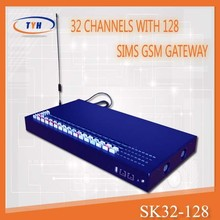 32 channel 128 simcards voip fxs gateway for communications equipment
