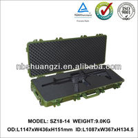 Hard storm case gun with foam IP67 protection lever