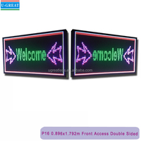 """Double Sided Outdoor Full Color LED Programmable Sign Front Access 16mm 73.7""""*38.4""""led outdoor signs"""
