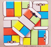 Colorful Check Mobile Phone Case For Samsung Galaxy I9300 S3