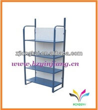 sturdy blue gravity feed wire counter auto spare parts display rack