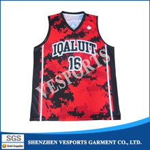 Custom team name and logo basketball tracksuit 100% polyester sublimation basketball apparel