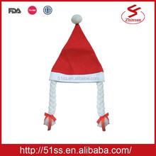 Wholesale felt decoration fashion hat for xmas decoration 30x40cm