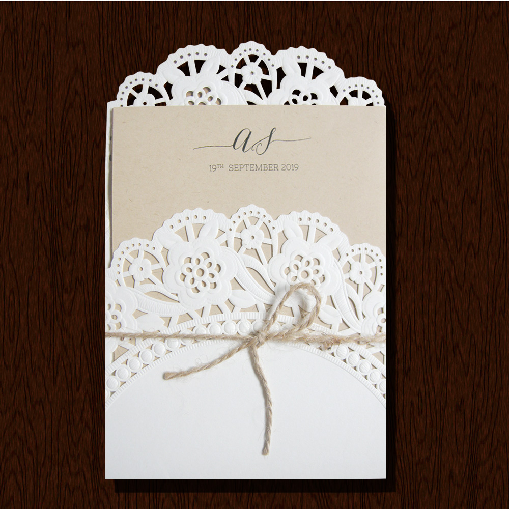 Wholesale Die Cut Invitation Cards Models,Rustic Wedding Invitation ...