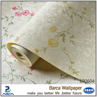 Barca 190604 small flowers interior vinyl wallpaper china supplier (5 colors)