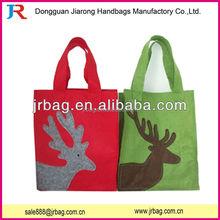 Wool felt printed shopping bags or tote bags