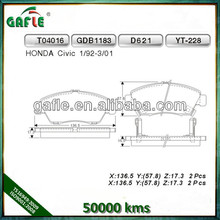 Brake Pad For HONDA Civic D621/GDB1183