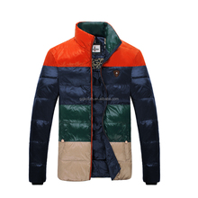 Men winter office dressing contrast color Brief style feather down clothes imperturbable introverted and young quality 150162014