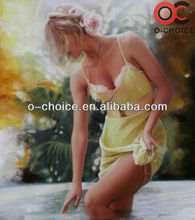 Hand painted canvas painting sexy girls oil painting
