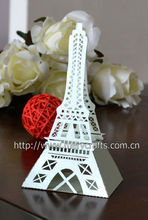 "Personalized gift packing box! party supplies laser cut ""eiffel tower"" favor box wedding centerpieces"