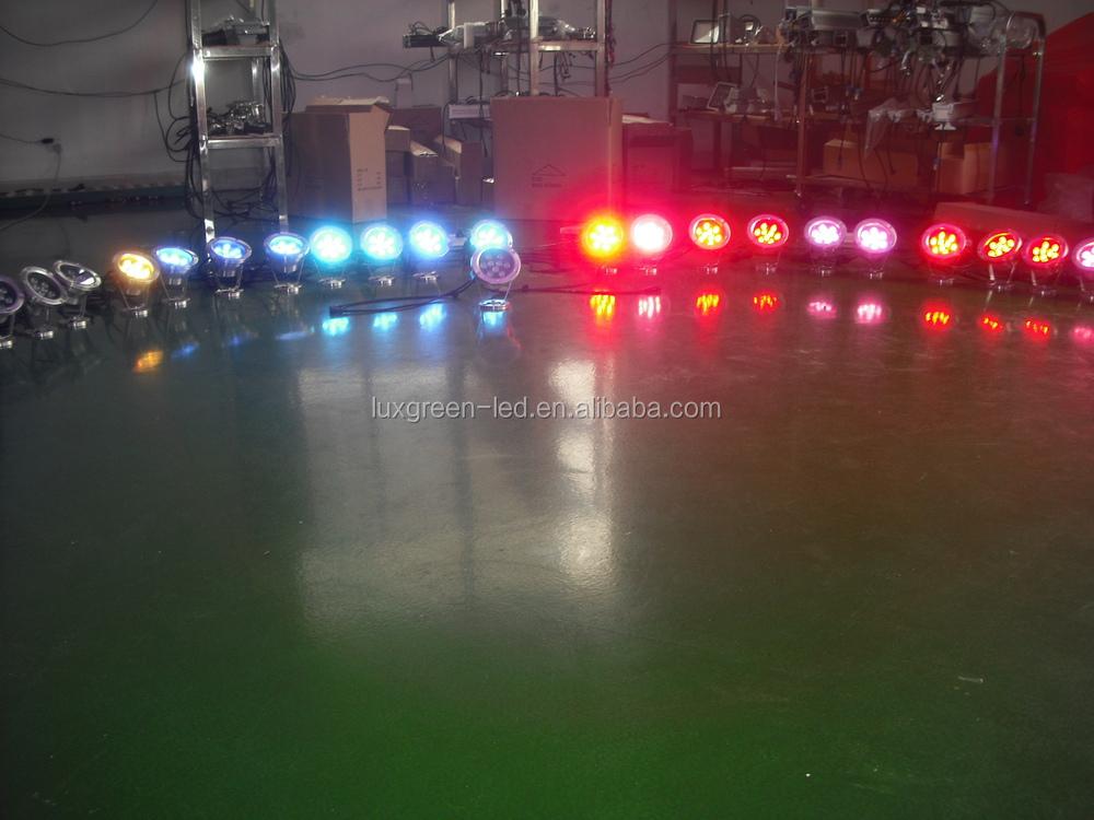 IP68 étanche, 9x3 w RGB led lumière sous-marine avec 3 Ans de Garantie