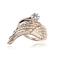 2015 New Products High Quality Diamond Jewelry Price Angel Wing Ring