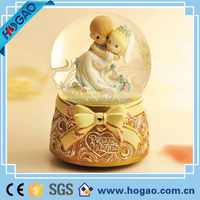 purple rain forest crystal wedding ring Snow Globe