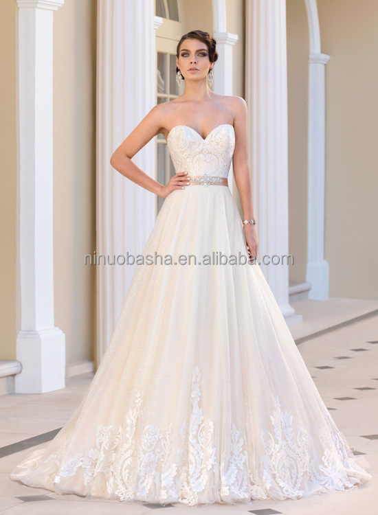 2015 stunning organza a line wedding dress with sweetheart neckline u can choose anyone from the following accessorries and tell us the item no that u like well ship it to u together with your parcel without charge u any junglespirit Gallery