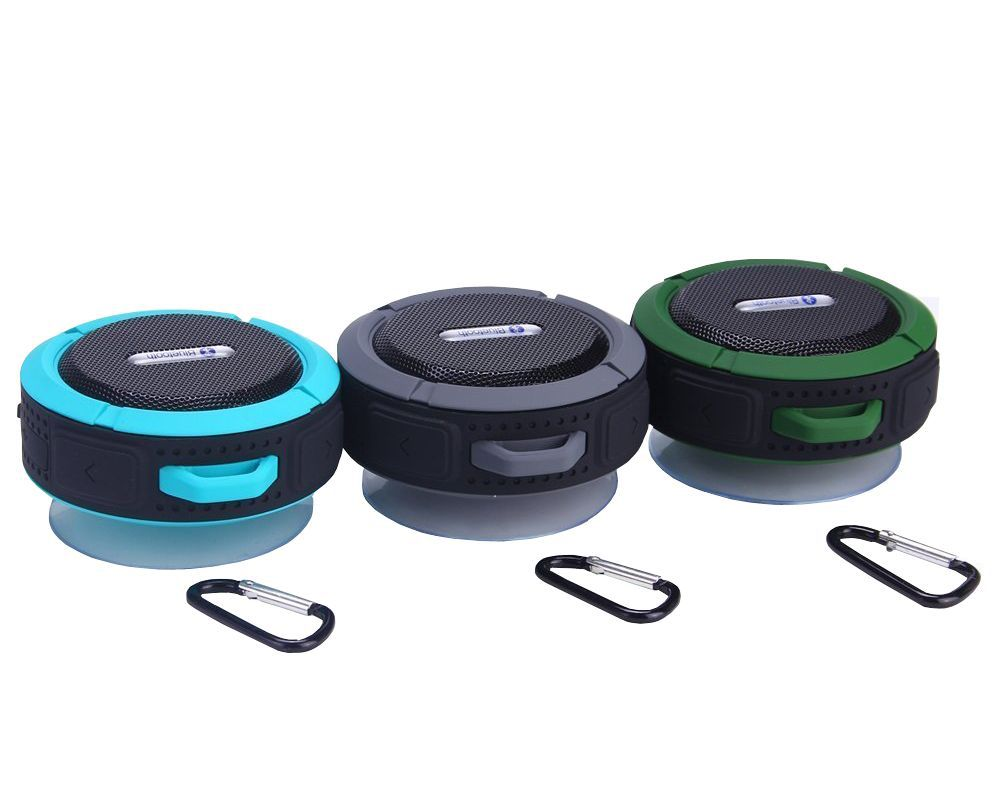 Aws1158 with carabiner mini swimming pool shower wireless bluetooth waterproof speaker buy for Waterproof speakers for swimming pools