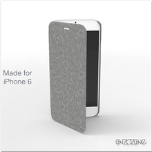 Leather smart cover cases for iPhone 6 with flora collection