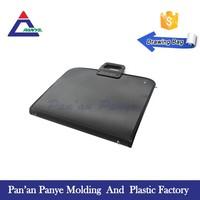 High quality art briefcase canvas frame portfolio metal wire file holder bag