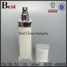 acrylic spray pump lotion pbottles with custom design with different volumes, wholesale acrylic spray pump lotion pbottles