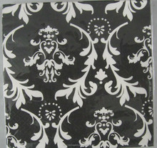 Color printed black ad white napkin tissue for OEM designs