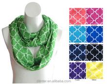 2014 fashion monogrammed girls quatrefoil infinity scarf