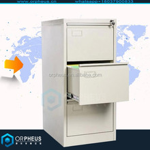 Professional vertical office metal furniture 3 drawer filing cabinet