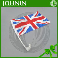 2015 new design hot selling cheap price printing polyester england country car window holders flag